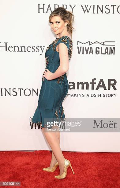 Carly Steel attends the 2016 amfAR New York Gala at Cipriani Wall Street on February 10 2016 in New York City