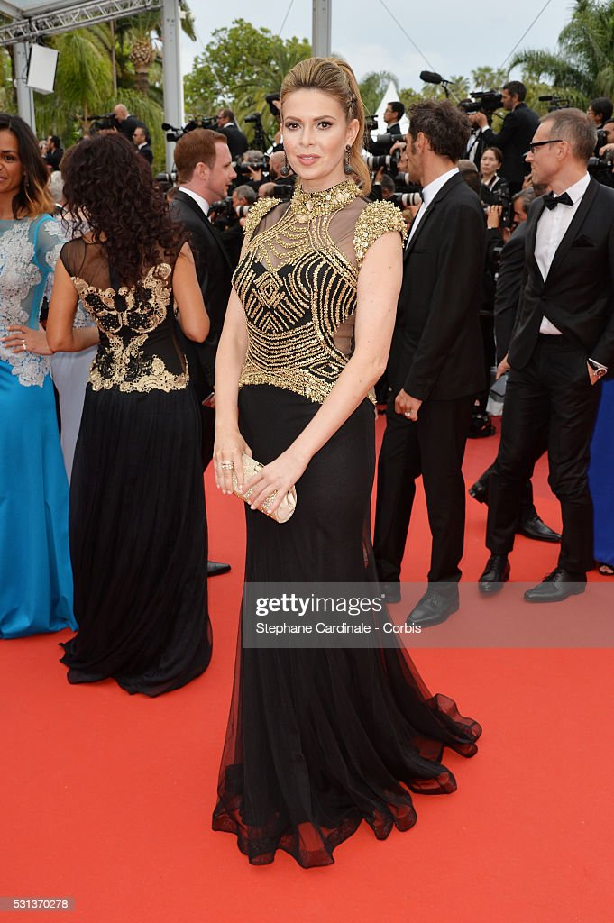Carly Steel attends 'The BFG ' premiere during the 69th annual Cannes Film Festival at the Palais des Festivals on May 14 2016 in Cannes France