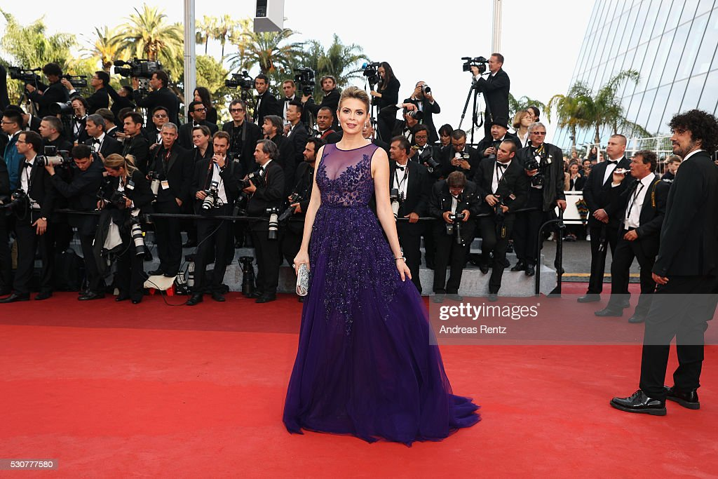 Carly Steel attends the 'Cafe Society' premiere and the Opening Night Gala during the 69th annual Cannes Film Festival at the Palais des Festivals on...