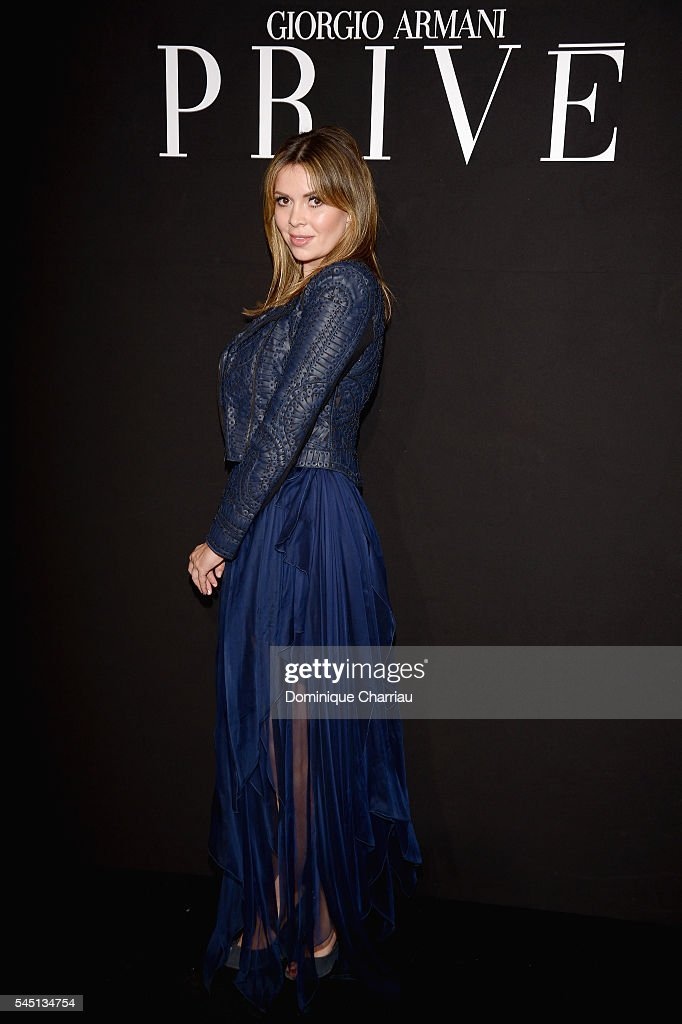 Carly Steel attends the Giorgio Armani Prive Haute Couture Fall/Winter 20162017 show as part of Paris Fashion Week on July 5 2016 in Paris France