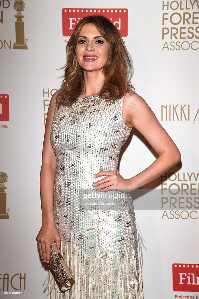 Carly Steel attends The Hollywood Foreign Press Association Honour Filmaid International party during The 69th Annual Cannes Film Festival on May 13...