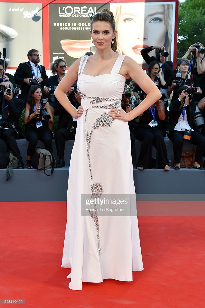 Carly Steel attends the opening ceremony and premiere of 'La La Land' during the 73rd Venice Film Festival at Sala Grande on August 31 2016 in Venice...