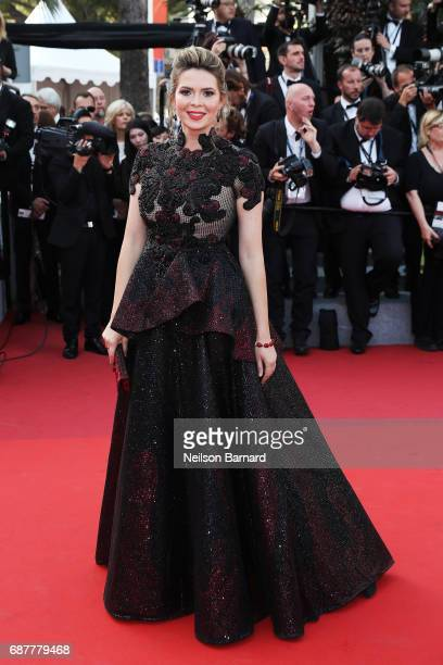 Carly Steel attends the 'The Beguiled' screening during the 70th annual Cannes Film Festival at Palais des Festivals on May 24 2017 in Cannes France