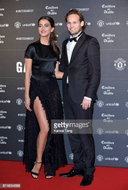 CarlyRae Fleur and Daley Blind attend the United for Unicef Gala Dinner at Old Trafford on November 15 2017 in Manchester England