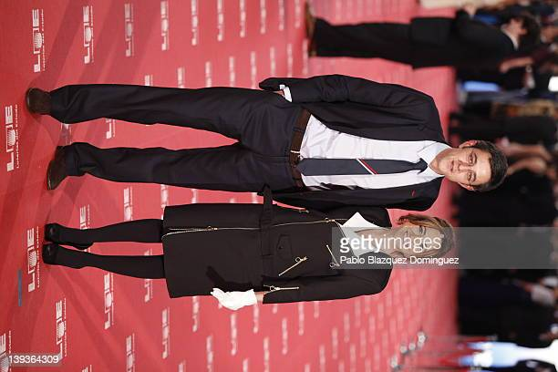 Carma Chacon and Eduardo Madina arrive to Goya Cinema Awards 2012 ceremony at the Palacio Municipal de Congresos on February 19 2012 in Madrid Spain