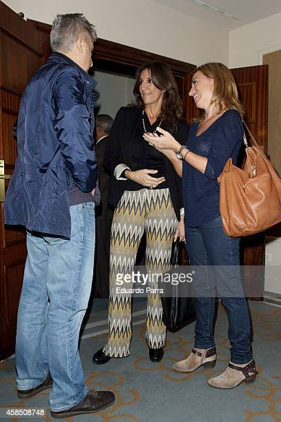 Carme Chacon and Pastora Vega attend Champagne awards 2014 at Wellington hotel on November 6 2014 in Madrid Spain