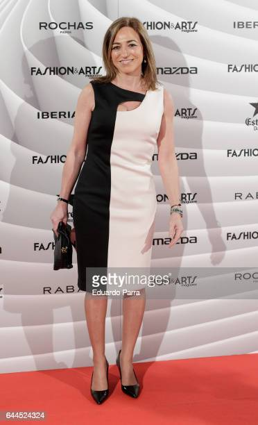 Carme Chacon attends the 'Fashion arts' photocall at Reina Sofia museum on February 23 2017 in Madrid Spain