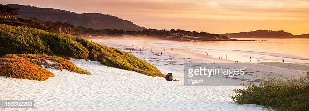 Carmel Beach panoramic in Carmel-by-the-Sea