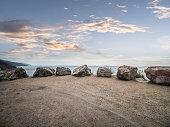 carmel beach,California,shot at an empty sand ground,USA.