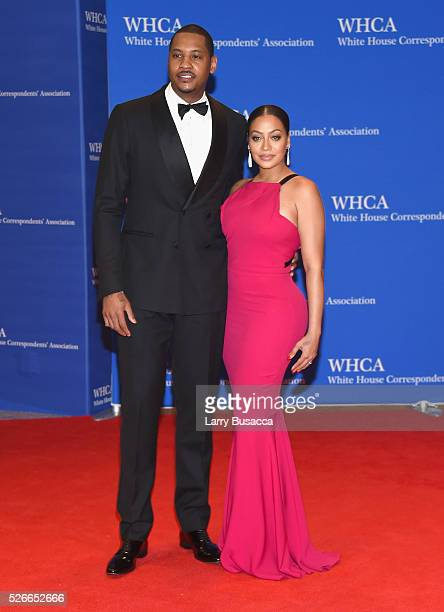 Carmelo Anthony and La La Anthony attend the 102nd White House Correspondents' Association Dinner on April 30 2016 in Washington DC