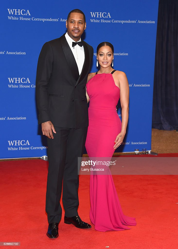 Carmelo Anthony and La La Anthony attend the 102nd White House Correspondents' Association Dinner on April 30, 2016 in Washington, DC.