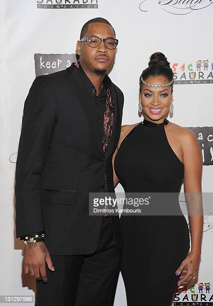 Carmelo Anthony and LaLa Anthony attend the 8th annual Keep A Child Alive Black Ball at the Hammerstein Ballroom on November 3 2011 in New York City