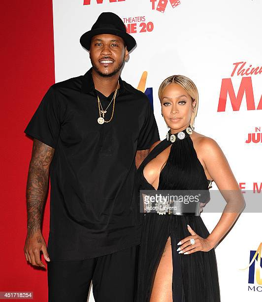 Carmelo Anthony and LaLa Anthony attend the premiere of 'Think Like A Man Too' at TCL Chinese Theatre on June 9 2014 in Hollywood California