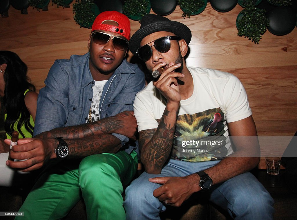 <a gi-track='captionPersonalityLinkClicked' href=/galleries/search?phrase=Carmelo+Anthony&family=editorial&specificpeople=201494 ng-click='$event.stopPropagation()'>Carmelo Anthony</a> and <a gi-track='captionPersonalityLinkClicked' href=/galleries/search?phrase=Swizz+Beatz&family=editorial&specificpeople=567154 ng-click='$event.stopPropagation()'>Swizz Beatz</a> attend Greenhouse Tuesdays at Greenhouse on May 29, 2012 in New York City.
