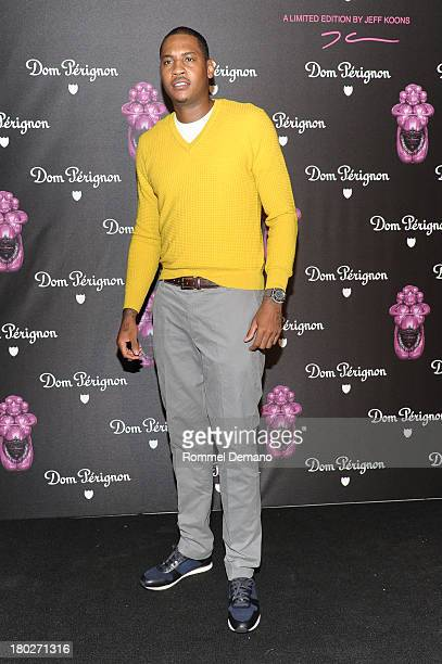 Carmelo Anthony attends Dom Perignon And Jeff Koons Rose Vintage 2003 Launch Celebration at 711 Greenwich Street on September 10 2013 in New York City