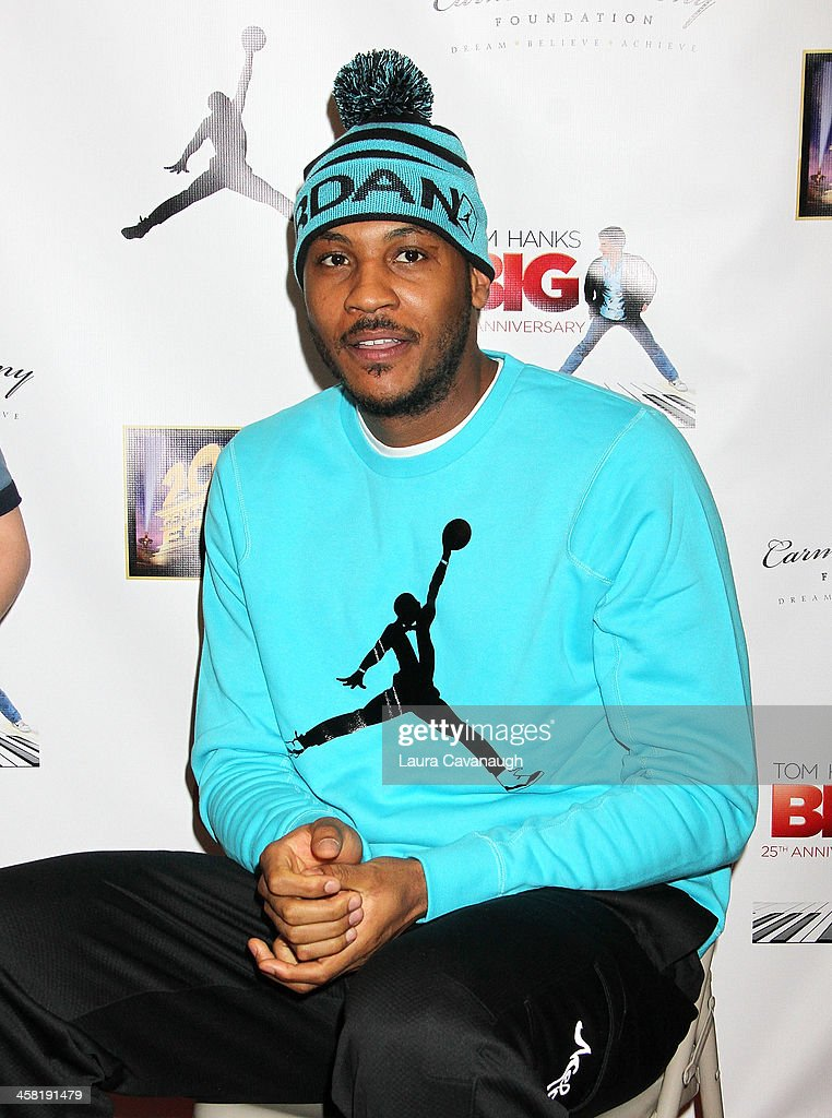 <a gi-track='captionPersonalityLinkClicked' href=/galleries/search?phrase=Carmelo+Anthony&family=editorial&specificpeople=201494 ng-click='$event.stopPropagation()'>Carmelo Anthony</a> attends the 'Big' 25th Anniversary Edition Blu-ray Release special screening benefiting the <a gi-track='captionPersonalityLinkClicked' href=/galleries/search?phrase=Carmelo+Anthony&family=editorial&specificpeople=201494 ng-click='$event.stopPropagation()'>Carmelo Anthony</a> Foundation at AMC Empire on December 20, 2013 in New York City.