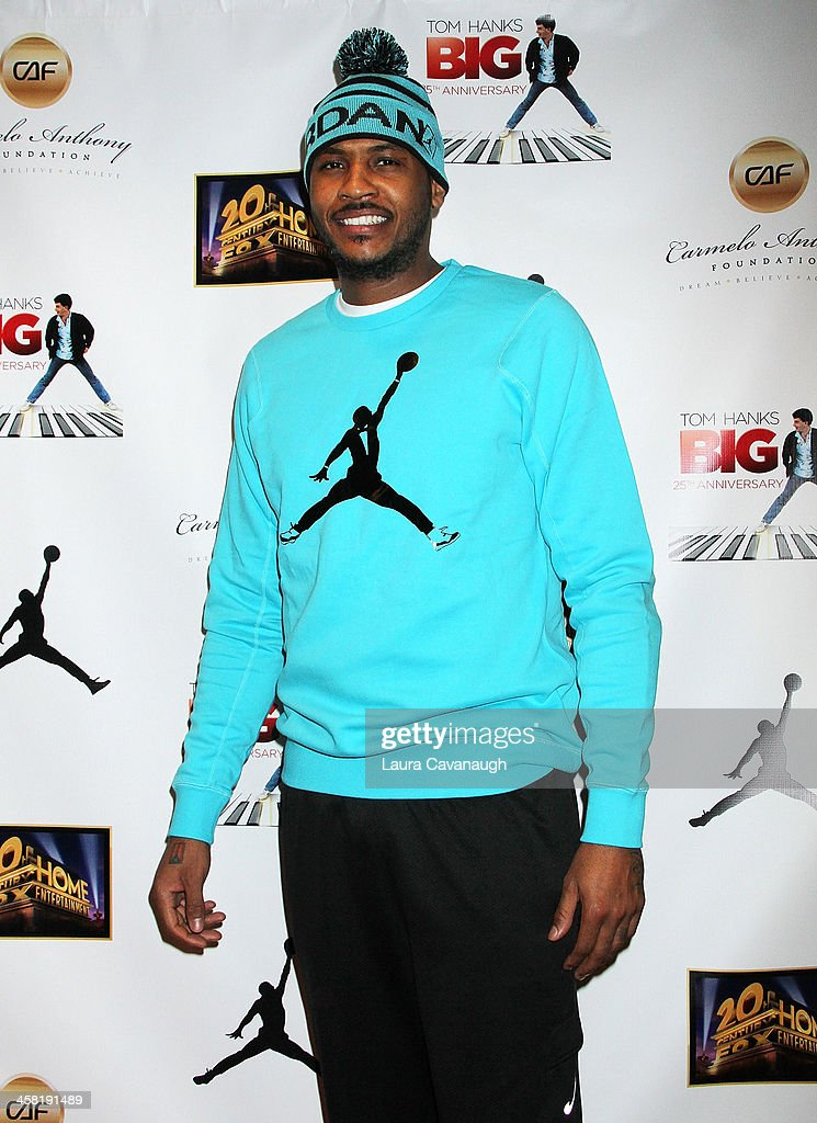 Carmelo Anthony attends the 'Big' 25th Anniversary Edition Blu-ray Release special screening benefiting the Carmelo Anthony Foundation at AMC Empire on December 20, 2013 in New York City.