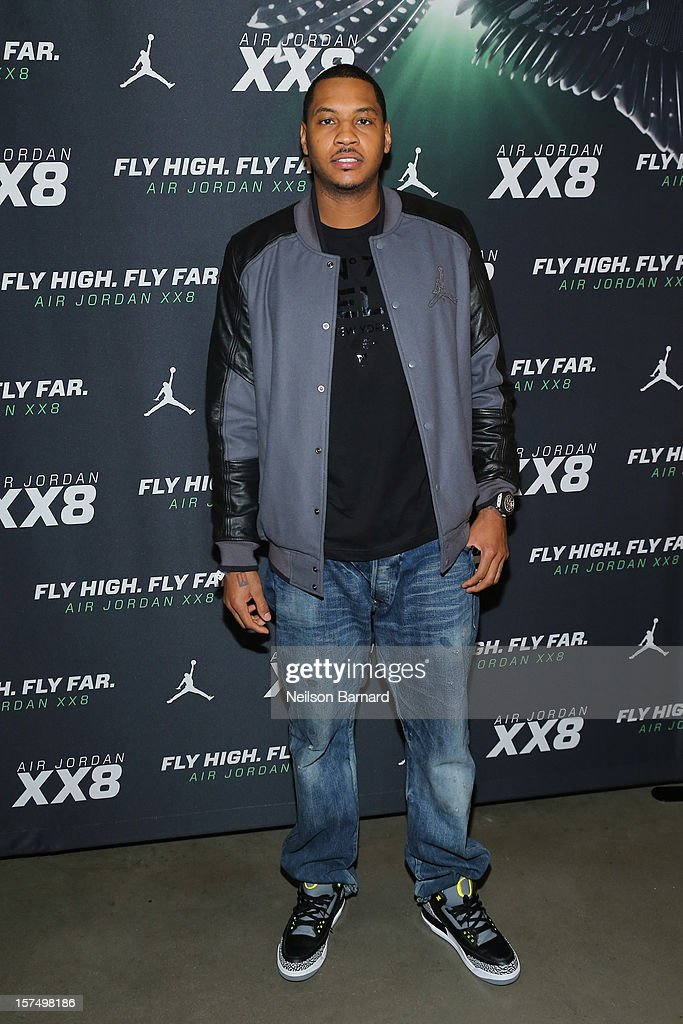 <a gi-track='captionPersonalityLinkClicked' href=/galleries/search?phrase=Carmelo+Anthony&family=editorial&specificpeople=201494 ng-click='$event.stopPropagation()'>Carmelo Anthony</a> attends the Dare To Fly AJXX8 event at PH-D Rooftop Lounge at Dream Downtown on December 3, 2012 in New York City.