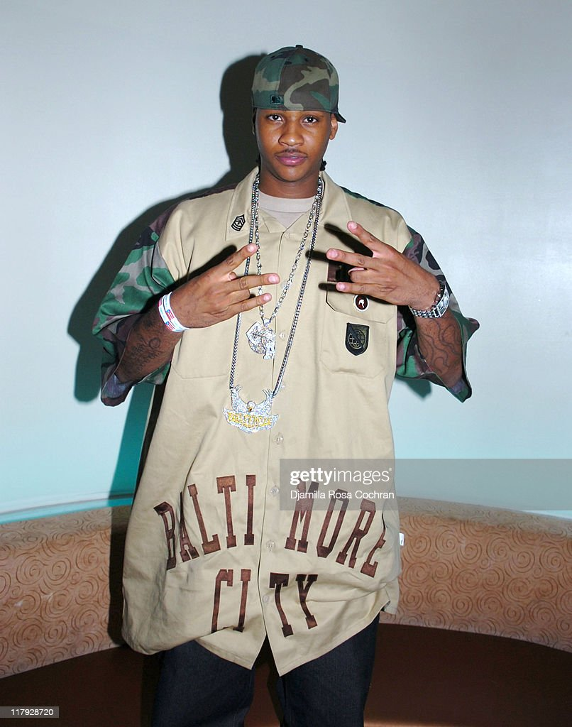 Carmelo Anthony during Hakim Warrick and Raymond Felton's Draft Party at Glo June 28 2005 at Glo in New York City New York United States