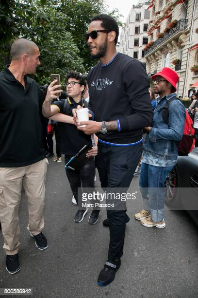 Carmelo Anthony is seen on June 24 2017 in Paris France