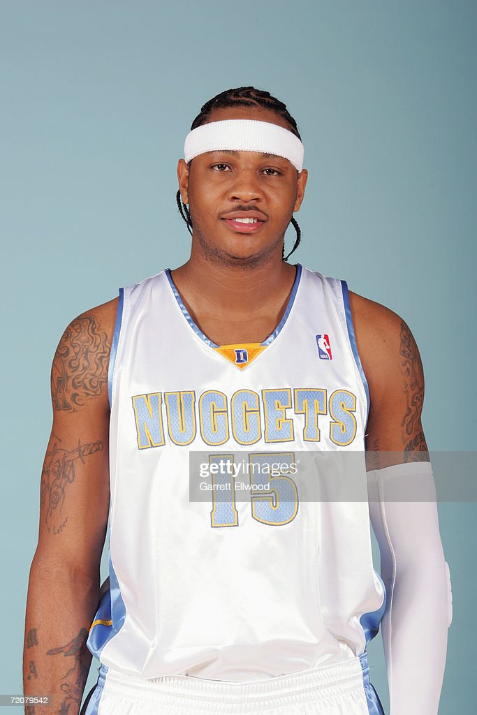 <a gi-track='captionPersonalityLinkClicked' href=/galleries/search?phrase=Carmelo+Anthony&family=editorial&specificpeople=201494 ng-click='$event.stopPropagation()'>Carmelo Anthony</a> #15 of the Denver Nuggets poses during NBA Media Day at the Pepsi Center on October 2, 2006 in Denver, Colorado.