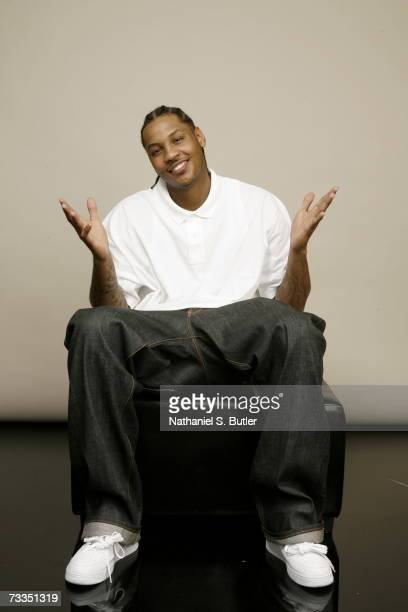 Carmelo Anthony of the Denver Nuggets poses for a portait during 2007 AllStar Media Availability at the Palms Resort and Casino on February 16 2007...