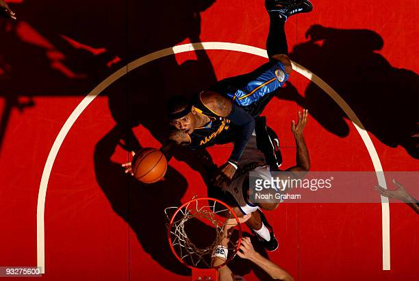 Carmelo Anthony of the Denver Nuggets puts up a shot against the Los Angeles Clippers at Staples Center on November 20 2009 in Los Angeles California...