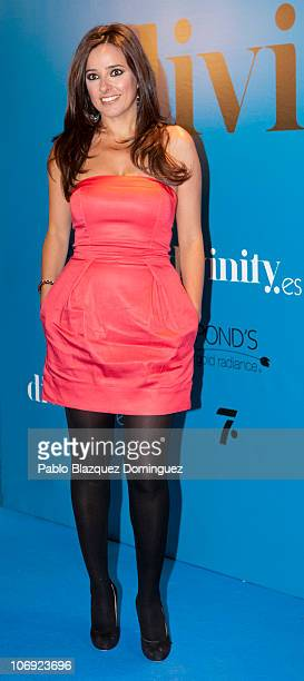 Carmen Alcayde attends 'Divinity' Party held by Telecinco Tv Channel at Ramses on November 16 2010 in Madrid Spain
