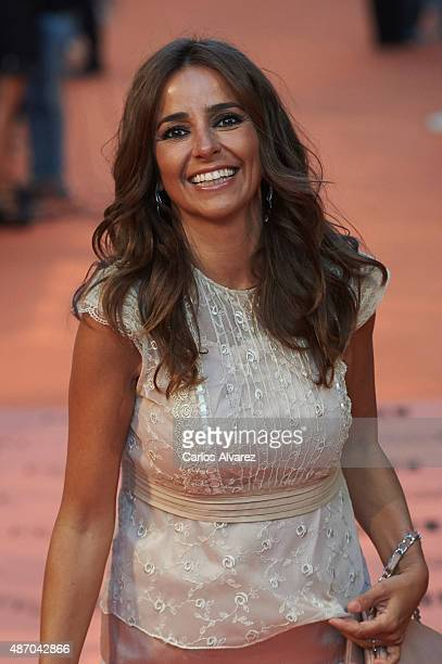 Carmen Alcayde attends the 7th FesTVal Television Festival 2015 the closing ceremony at the Principal Theater on September 5 2015 in VitoriaGasteiz...