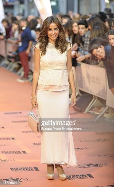Carmen Alcayde attends the closing ceremony of the Television Festival FesTVal 2015 on September 5 2015 in VitoriaGasteiz Spain
