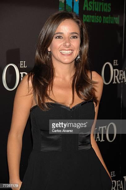 Carmen Alcayde attends the premiere of 'El Orfanato' on October 10 2007 at Palacio de la Musica Cinema in Madrid Spain