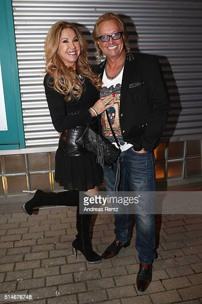 Carmen and Robert Geiss attend the public launch of a new fragrance 'Roberto Geissini' on March 10 2016 in Cologne Germany