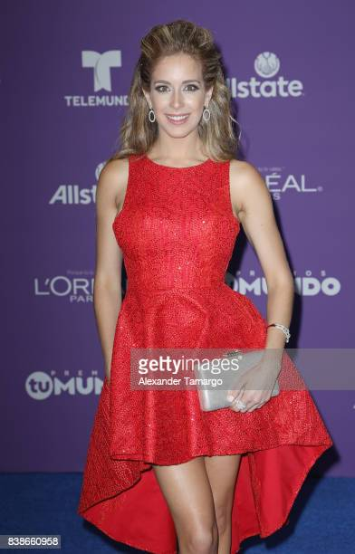 Carmen Aub arrives at Telemundo's 2017 'Premios Tu Mundo' at American Airlines Arena on August 24 2017 in Miami Florida
