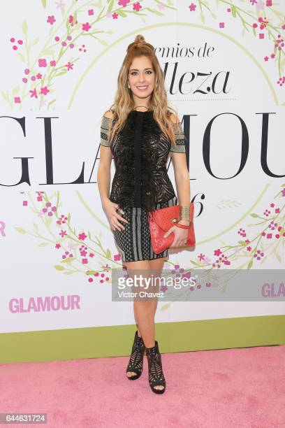 Carmen Aub attends the Glamour Mexico magazine Beauty Awards 2016 at Jardin Versal on February 23 2017 in Mexico City Mexico