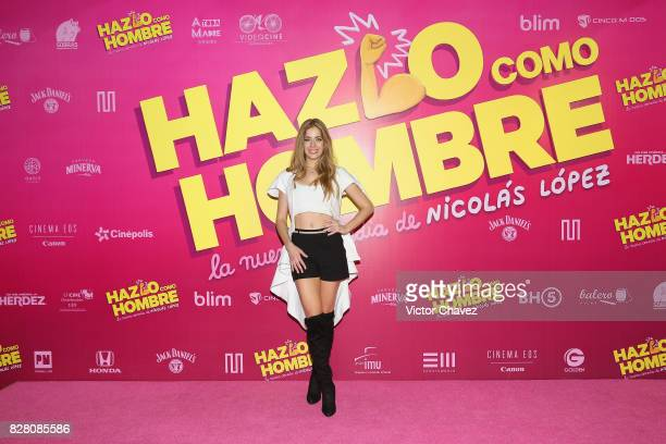 Carmen Aub attends the 'Hazlo Como Hombre' Mexico City premiere at Cinepolis Oasis Coyoacan on August 8 2017 in Mexico City Mexico