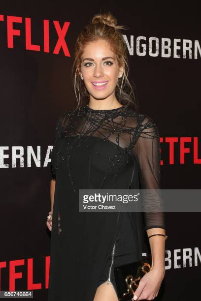 Carmen Aub attends the launch of Netflix's series 'Ingobernable' red carpet at Auditorio BlackBerry on March 22 2017 in Mexico City Mexico