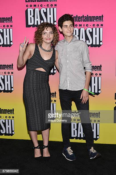 Carmen Bicondova and David Mazouz attend Entertainment Weekly's ComicCon Bash held at Float at Hard Rock Hotel San Diego on July 23 2016 in San Diego...