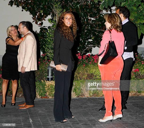 Carmen Borrego Sergio Alis Rocio Carrasco Mila Ximenez and Fidel Albiac attend Spanish Tv presenter Terelu Campos birthday on September 3 2011 in...