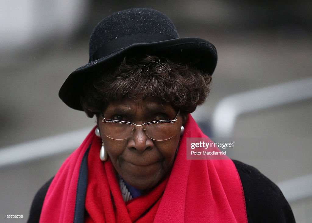 Carmen Briscoe-Mitchell mother of Constance Briscoe arrives at Southwark Crown Court on January 29, 2014 in London, England. Ms Briscoe, a barrister and part-time judge, is charged with providing two inaccurate statements to police, altering a police witness statement and of perverting the course of public justice in connection with the trial of former government minister Chris Huhne and his wife Vicky Pryce.