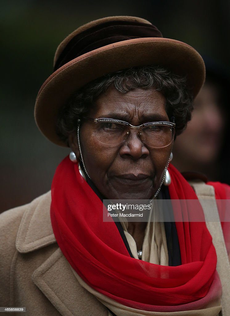 Carmen Briscoe-Mitchell, mother of Constance Briscoe, arrives at Southwark Crown Court on January 30, 2014 in London, England. Ms Briscoe, a barrister and part-time judge, is charged with providing two inaccurate statements to police, altering a police witness statement and of perverting the course of public justice in connection with the trial of former government minister Chris Huhne and his wife Vicky Pryce.
