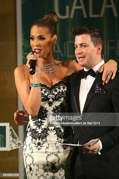Carmen Carrera and Rafael Schwarz attend the AIDS Solidarity Gala 2014 at Hofburg Vienna on May 31 2014 in Vienna Austria