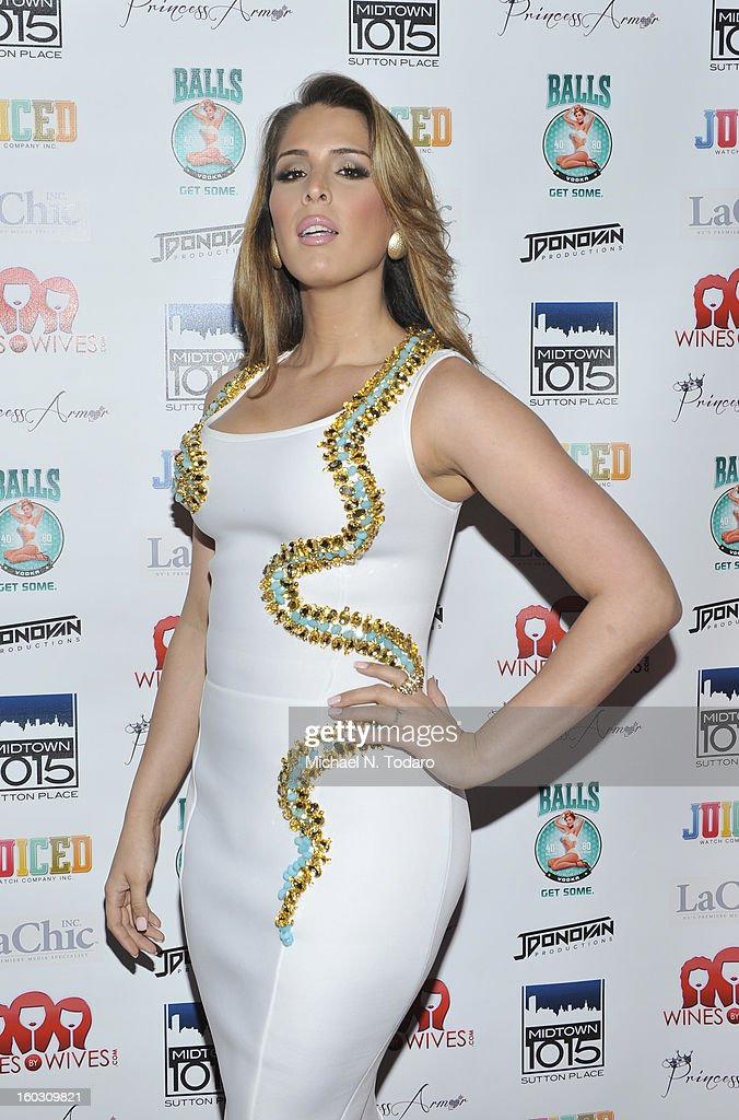Carmen Carrera attends 'Jerseylicious' Season 5 Premiere Party at Midtown Sutton on January 28, 2013 in New York City.
