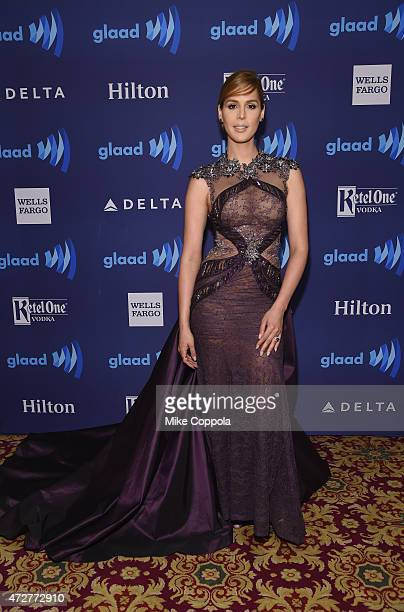 Carmen Carrera attends the 26th Annual GLAAD Media Awards In New York on May 9 2015 in New York City