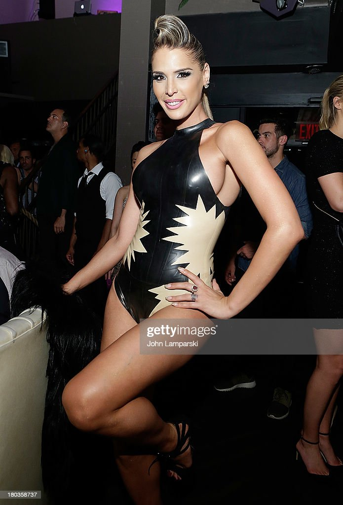 <a gi-track='captionPersonalityLinkClicked' href=/galleries/search?phrase=Carmen+Carrera&family=editorial&specificpeople=7433374 ng-click='$event.stopPropagation()'>Carmen Carrera</a> attends The Blonds Mercedes-Benz Fashion Week Spring 2014 After Party at No. 8 on September 11, 2013 in New York City.