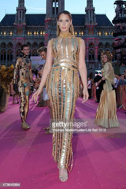 Carmen Carrera attends the Life Ball 2015 at City Hall on May 16 2015 in Vienna Austria