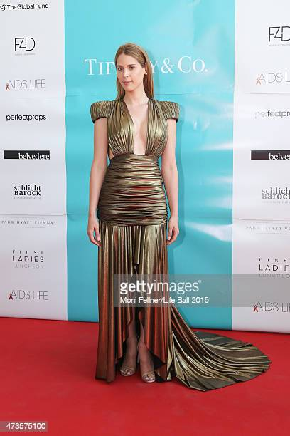 Carmen Carrera attends the Life Ball 2015 first ladies lunch at Belvedere Palace on May 16 2015 in Vienna Austria The Life Ball an annual charity...