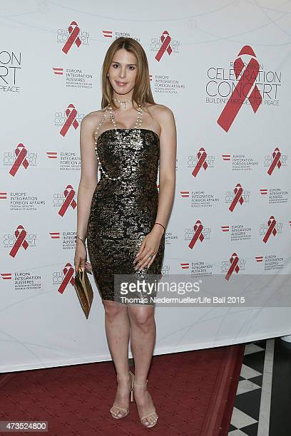 Carmen Carrera attends the red carpet prior to the Red Ribbon Celebration Concert United in Difference at Burgtheater on May 15 2015 in Vienna Austria