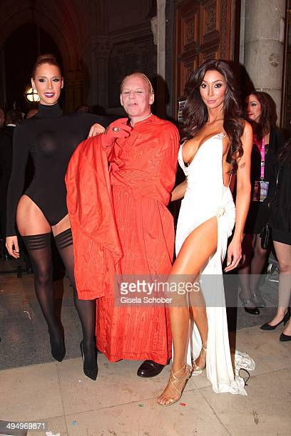 Carmen Carrera Ben Becker Yasmine Petty attend the Life Ball 2014 after show party at City Hall on May 31 2014 in Vienna Austria