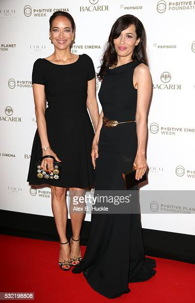 Carmen Chaplin and Dolores Chaplin attend the Planet Finance Foundation Gala Dinner during the 69th annual Cannes Film Festival at Hotel Martinez on...