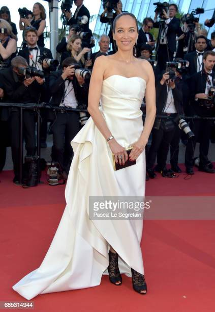 Carmen Chaplin attends the 'Okja' screening during the 70th annual Cannes Film Festival at Palais des Festivals on May 19 2017 in Cannes France
